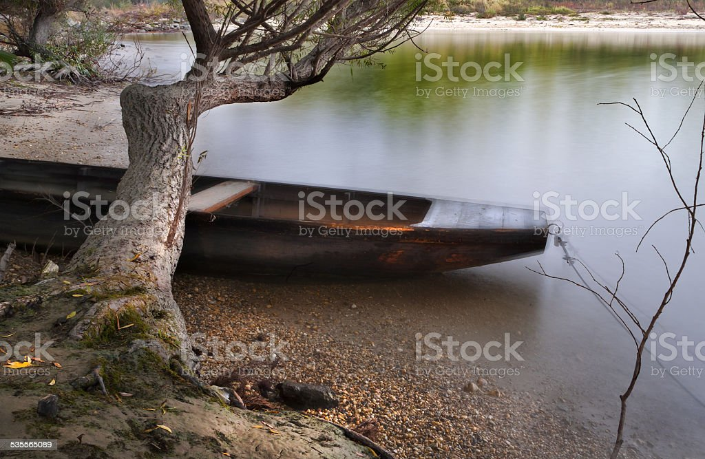 Ghost of the boat.. stock photo