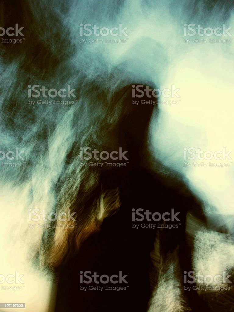 ghost paranormal unrecognizable person shadow stock photo