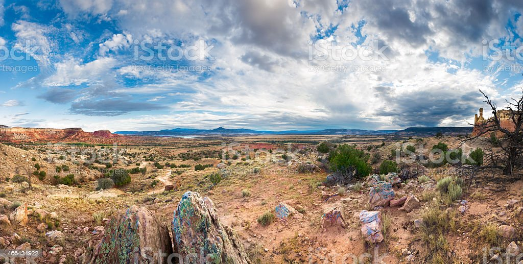 Ghost Ranch Panorama stock photo