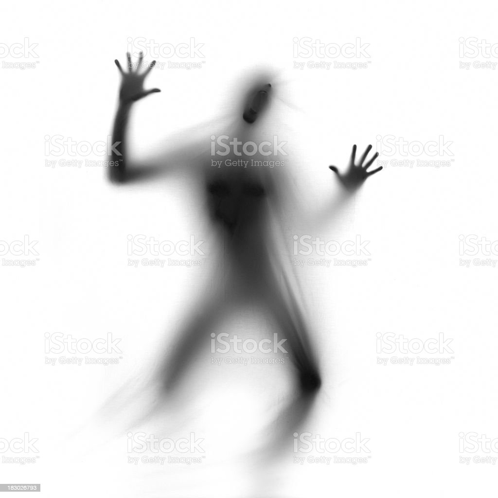 Ghost screaming royalty-free stock photo