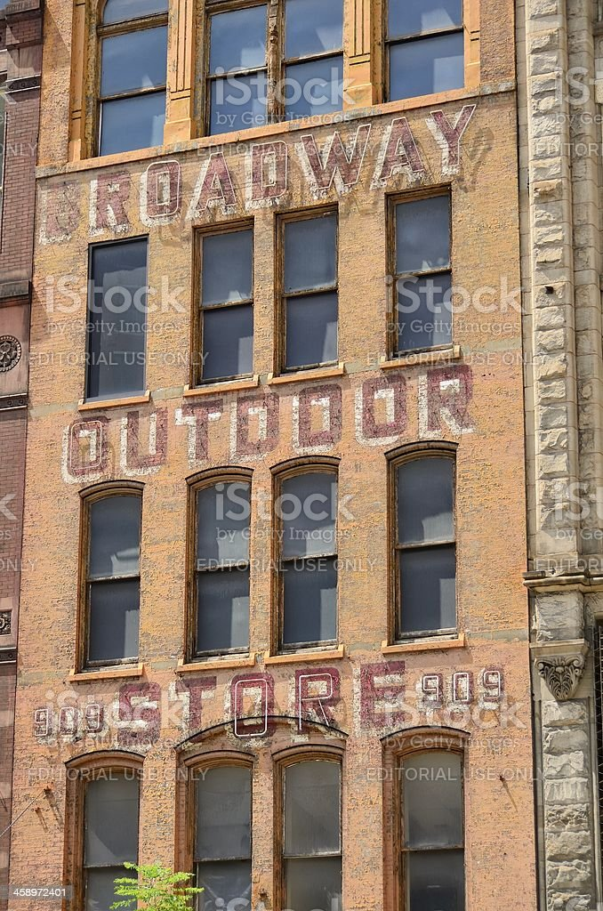 Ghost Sign, Pittsburgh royalty-free stock photo