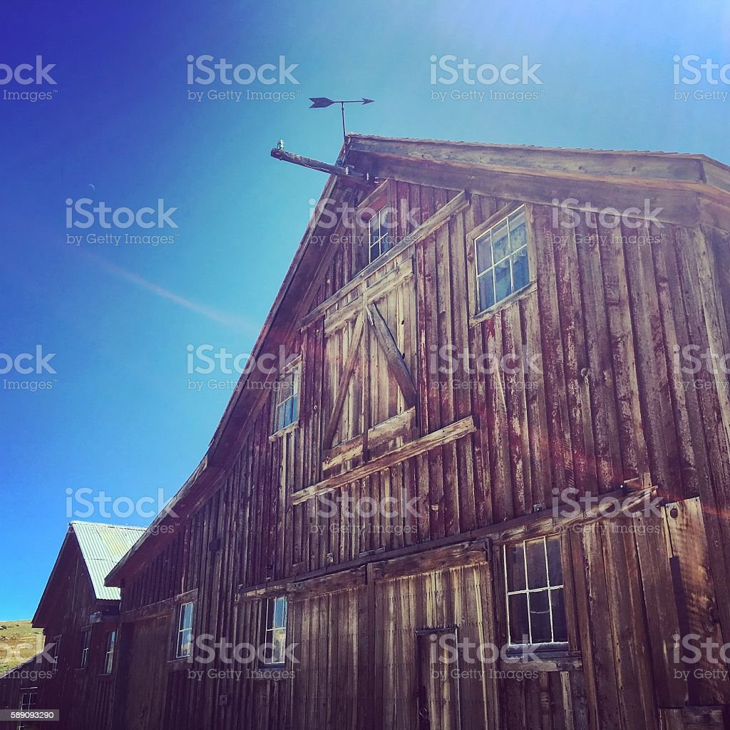 Ghost Town Barn stock photo
