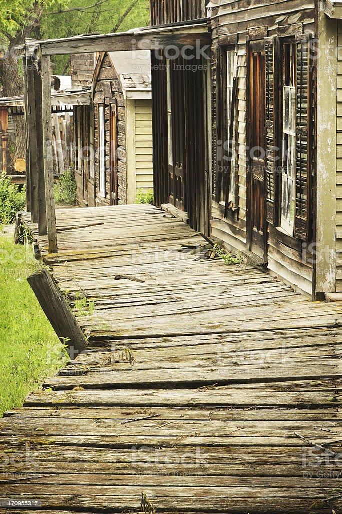 Ghost Town Boardwalk Building Facades stock photo