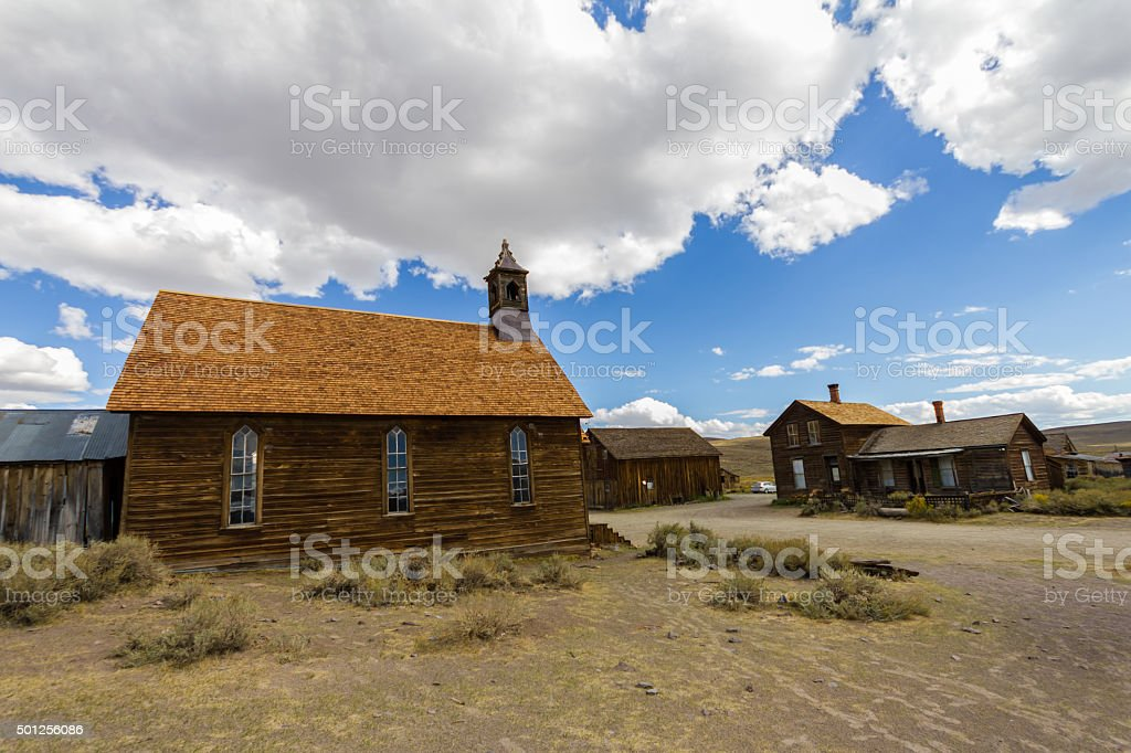 Ghost town Bodie at daytime, USA stock photo