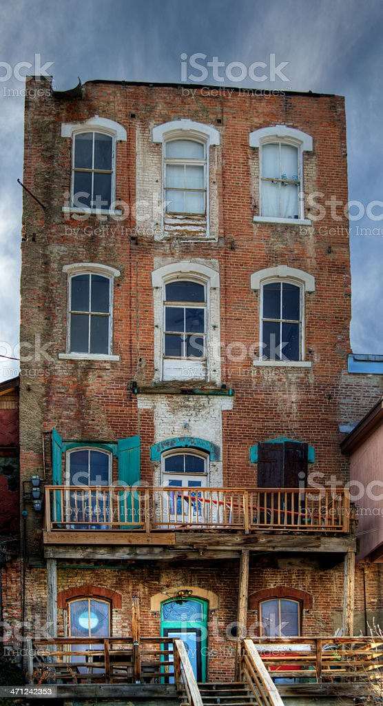 Ghost Town Building stock photo