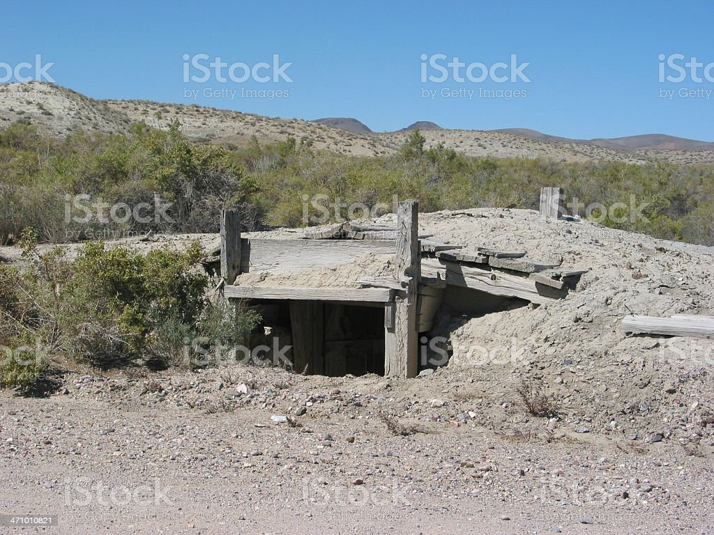 Ghost Town Home stock photo