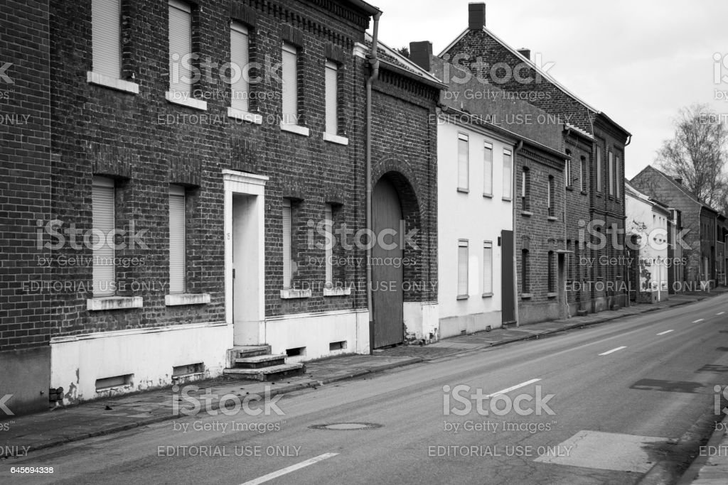 Ghost town Immerath, Germany stock photo