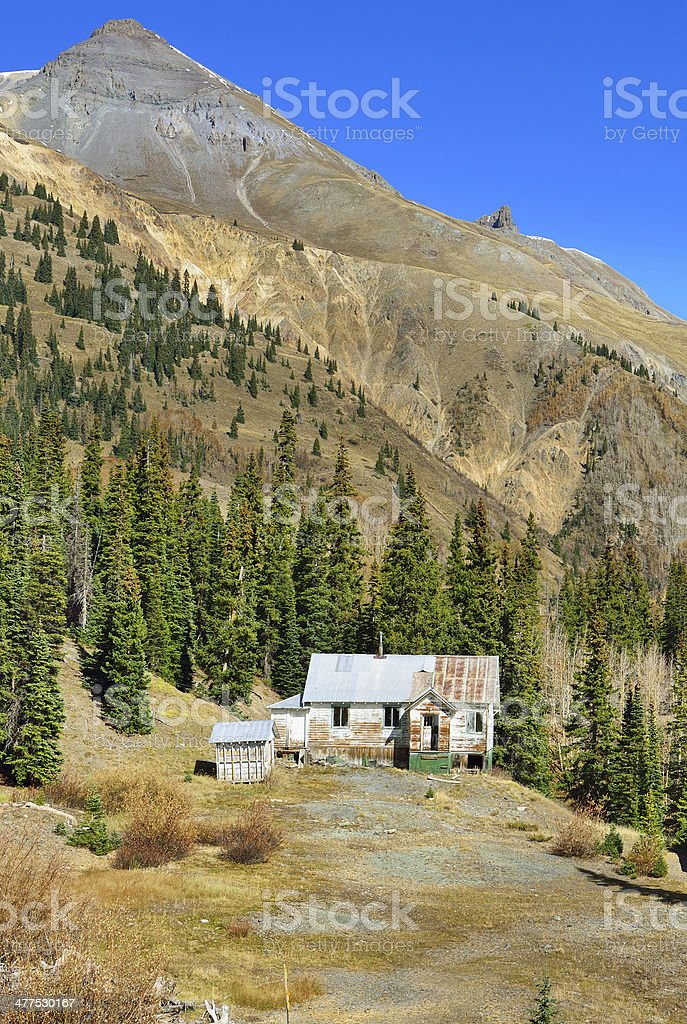 ghost town in colorado during summer stock photo