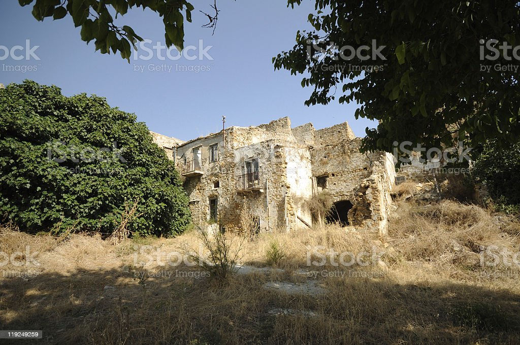 Ghost Town, Sicily royalty-free stock photo