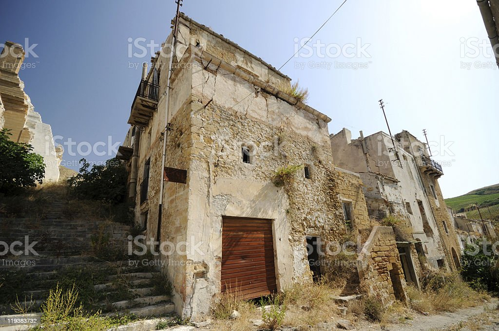 Ghost Town, Sicily stock photo