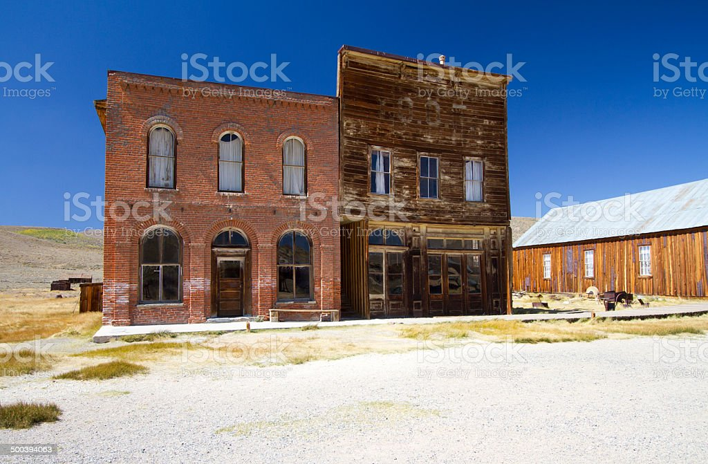 Ghost Town Store Front in Bodie stock photo