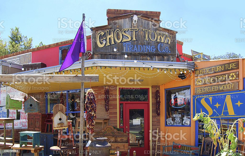 Ghost Town Trading Company in Albuquerque stock photo
