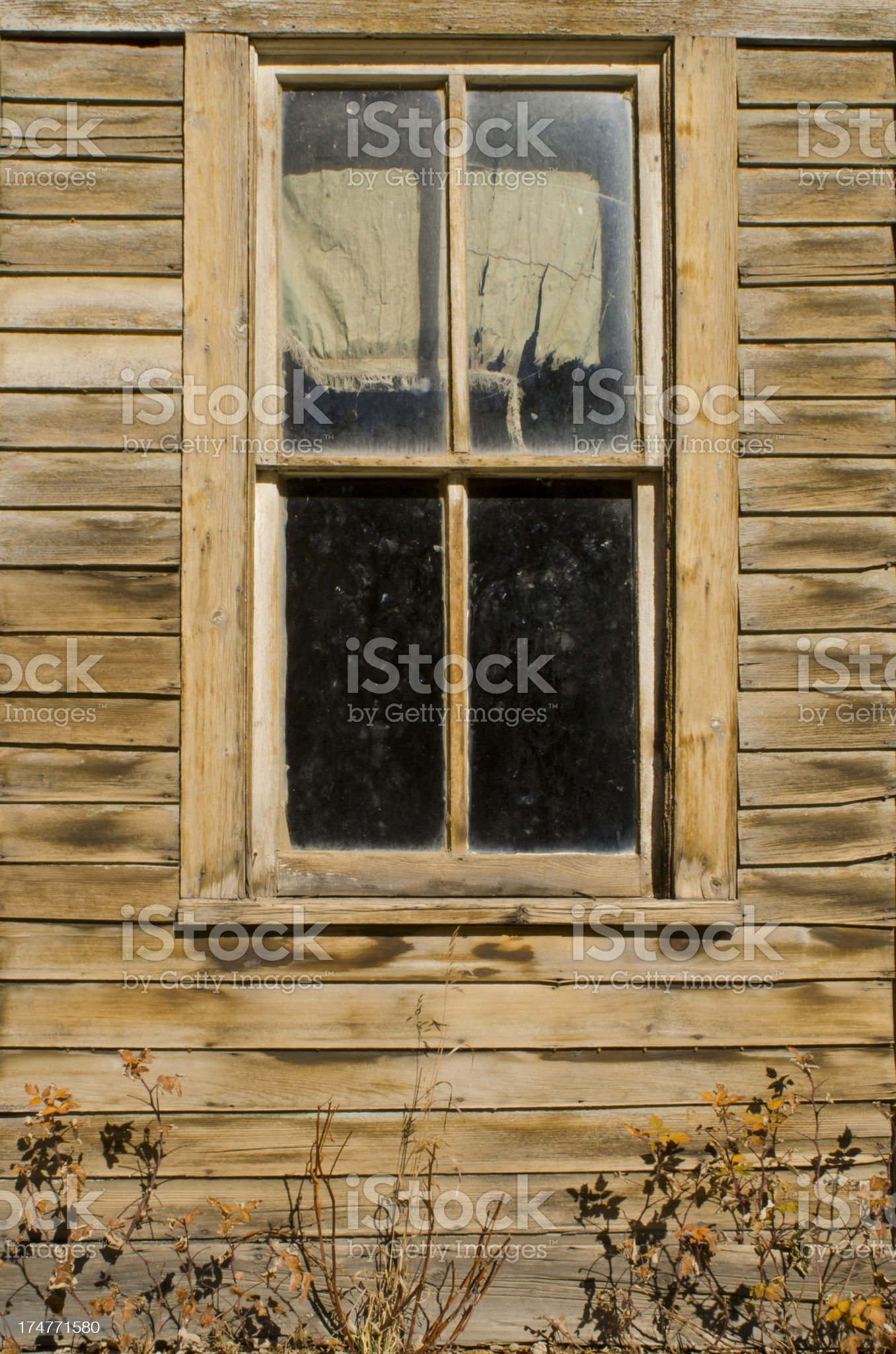 Ghost Town Window royalty-free stock photo