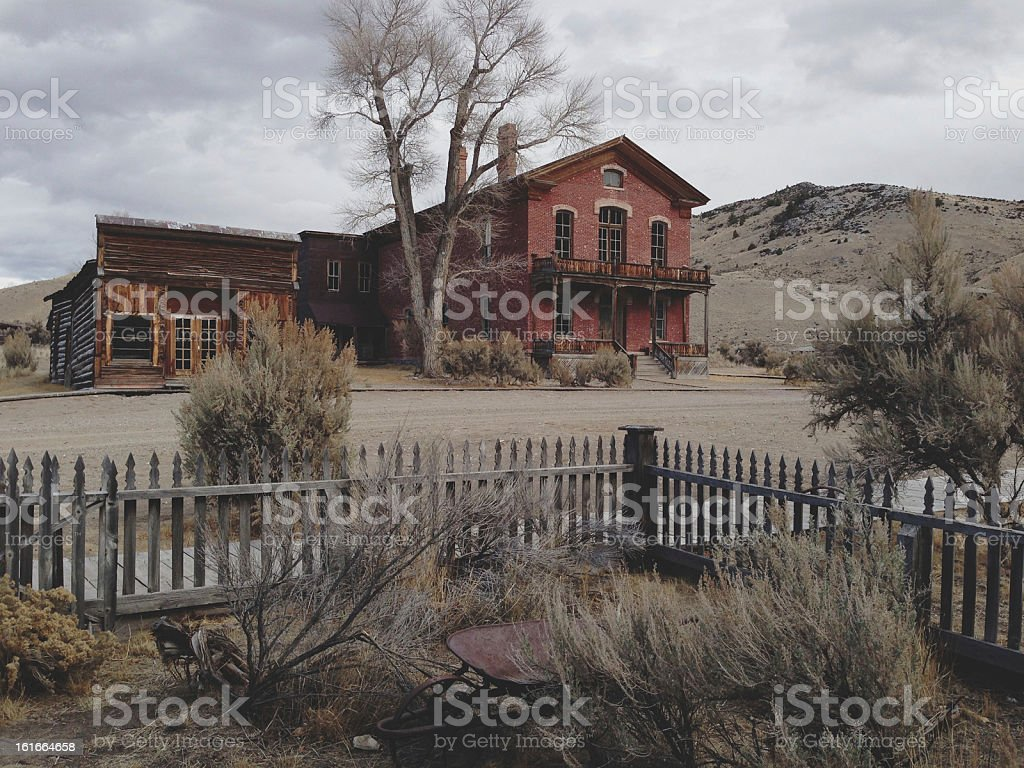 Ghost Town Yard stock photo