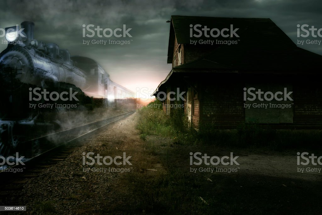 Ghost train stock photo