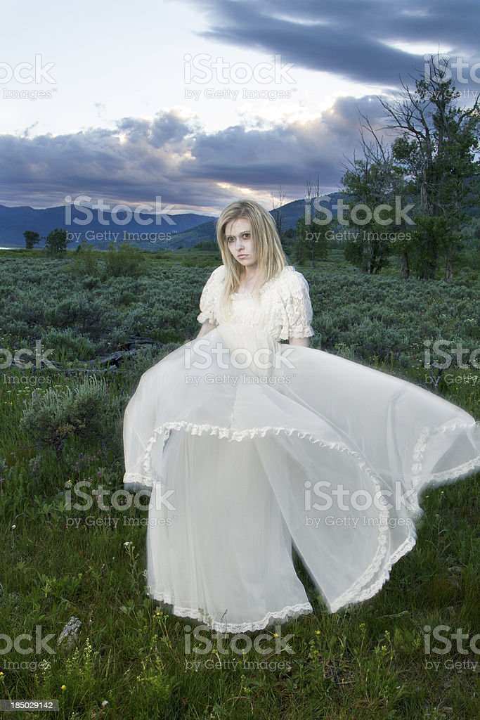 Ghost woman in the wind royalty-free stock photo