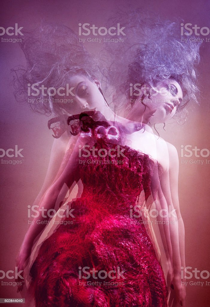 Ghosted Dark Beauty stock photo