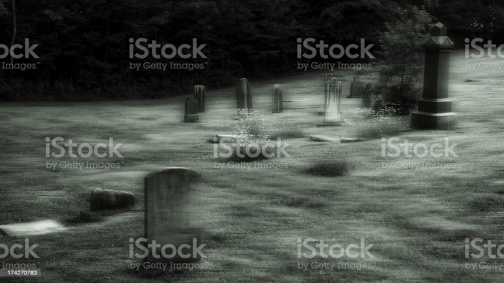 Ghostly cemetery royalty-free stock photo