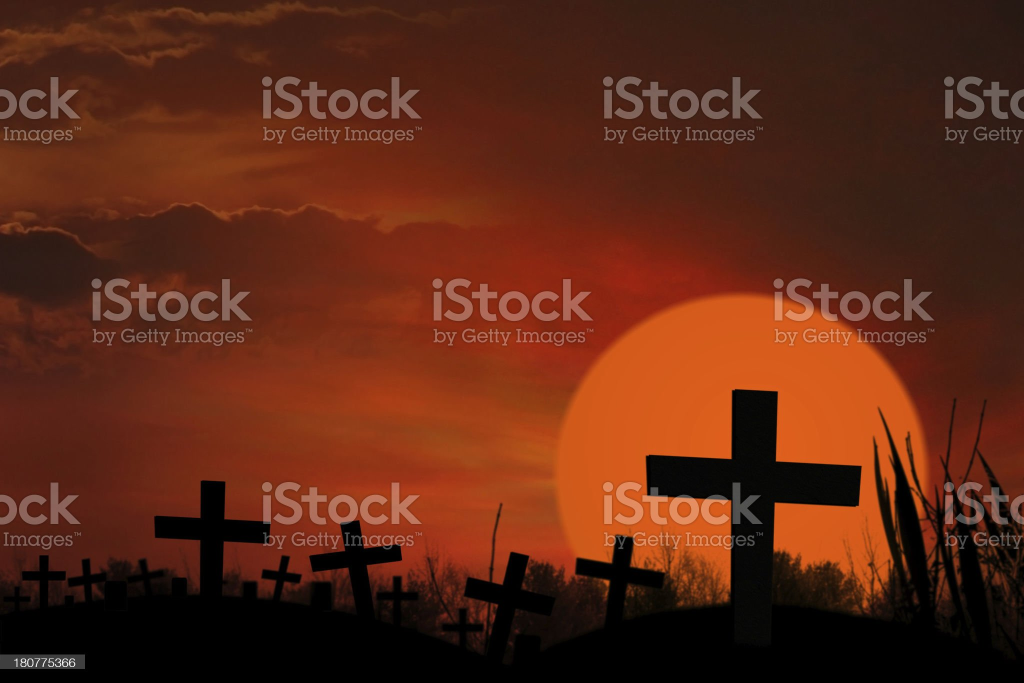 Ghostly grave royalty-free stock photo