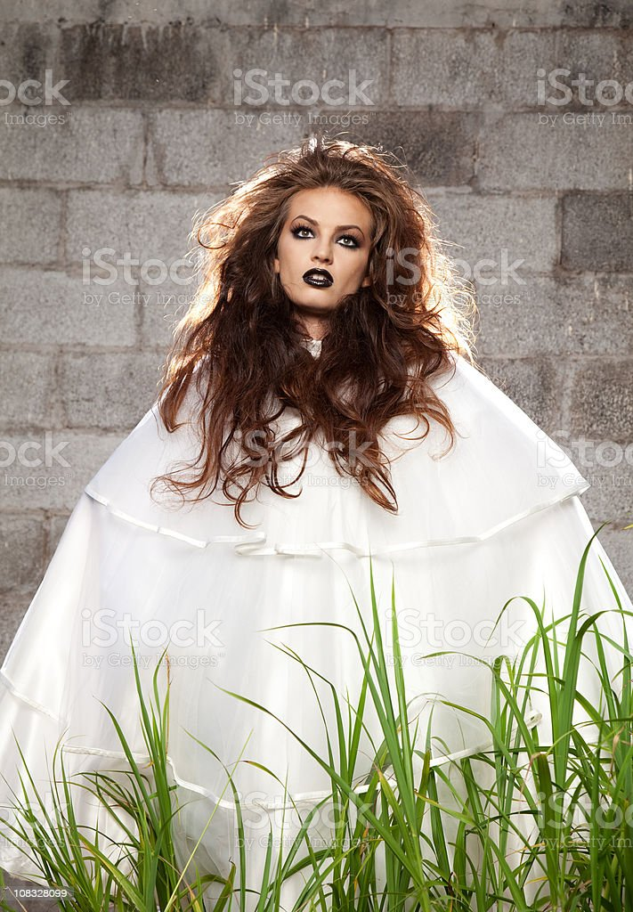 Ghostly Looking Woman stock photo