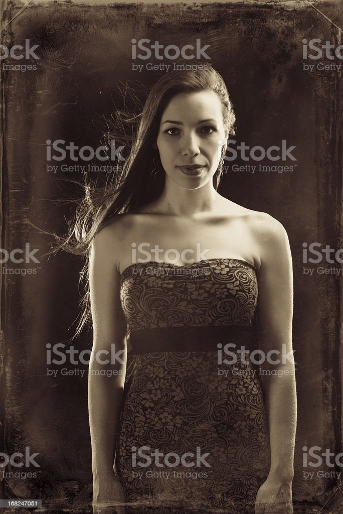 Ghostly Portrait stock photo