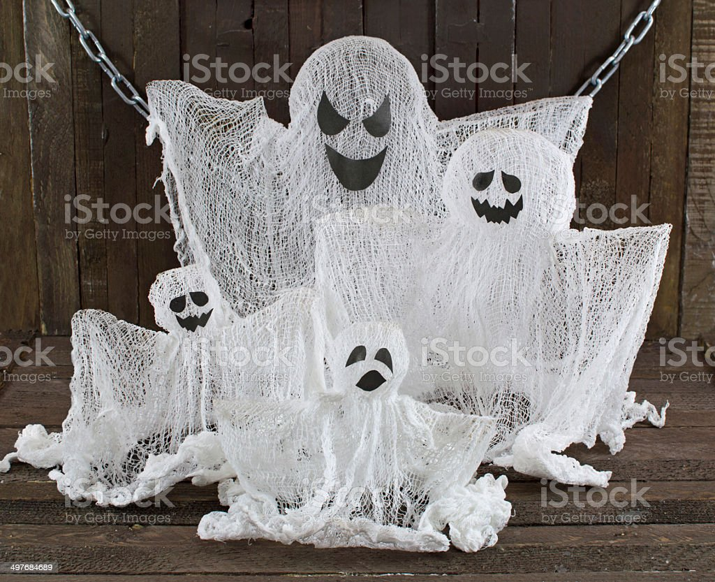 Ghosts family stock photo