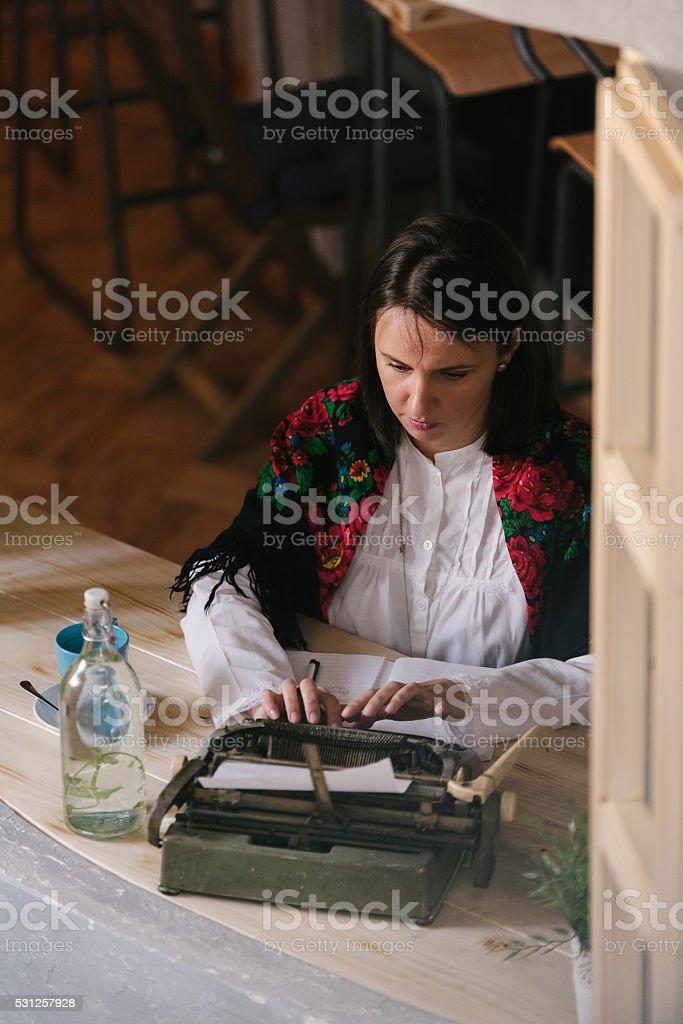Ghostwriter on the job stock photo