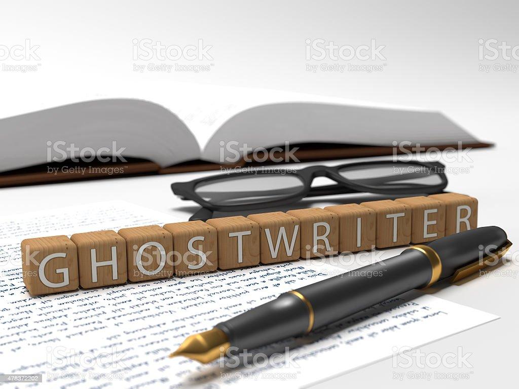 Ghostwriter stock photo