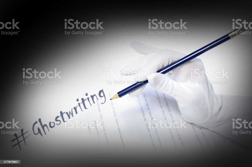 Ghostwriting royalty-free stock photo