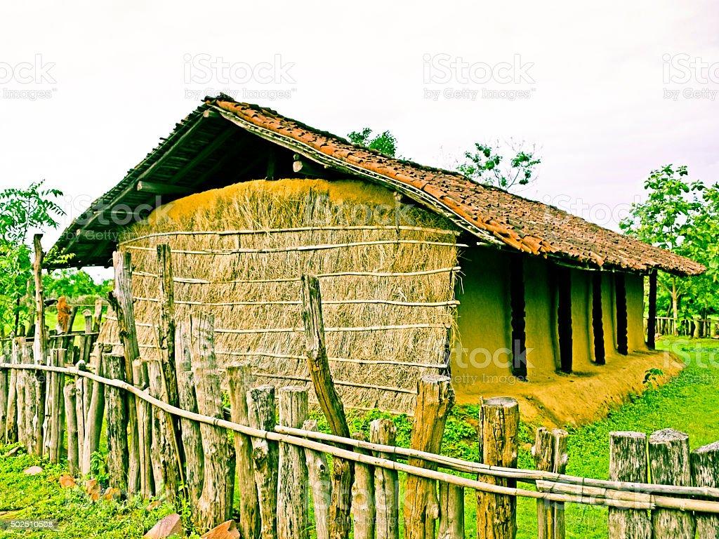 Ghotul Tribal's Dwelling stock photo