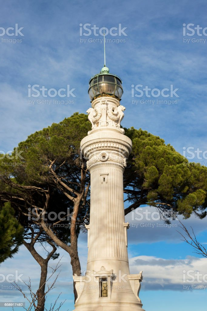 Gianicolo Hill Lighthouse in Rome stock photo