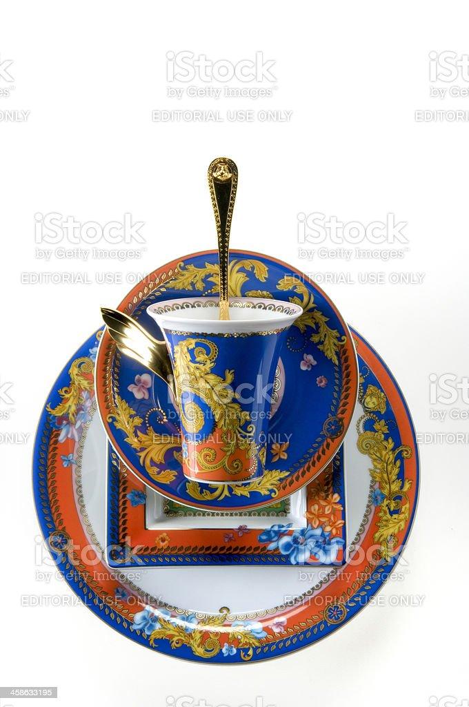 Gianni Versace dishware Medusa limited edition stock photo