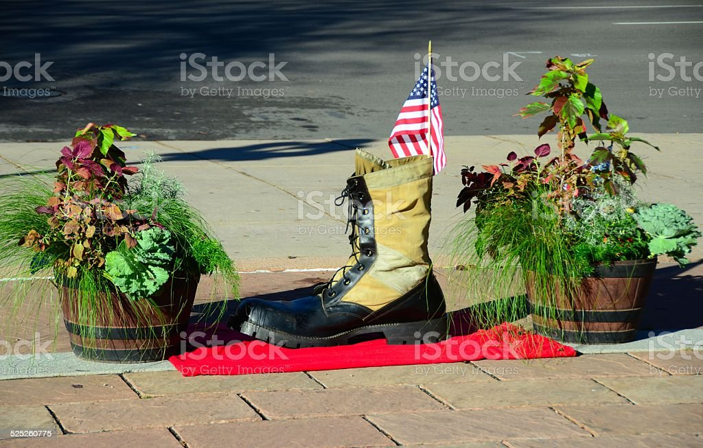 Giant Army Boot stock photo