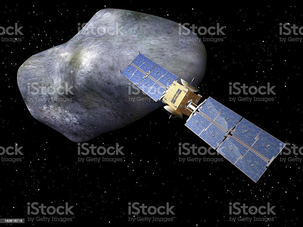 Giant asteroid royalty-free stock photo