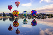 Giant balloons fly over Yakima river
