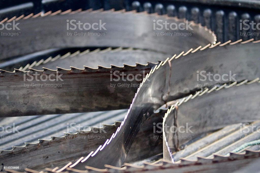 Giant band saw blade stock photo