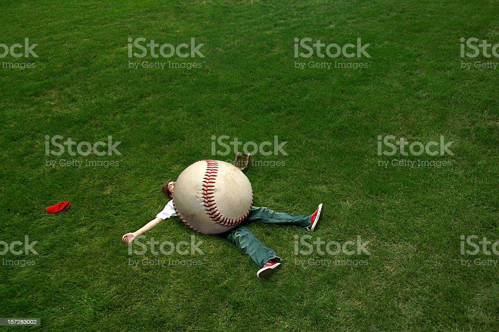 giant baseball stock photo