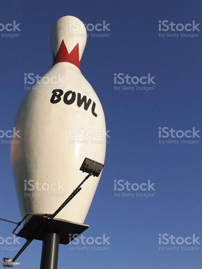 Giant Bowling Pin royalty-free stock photo