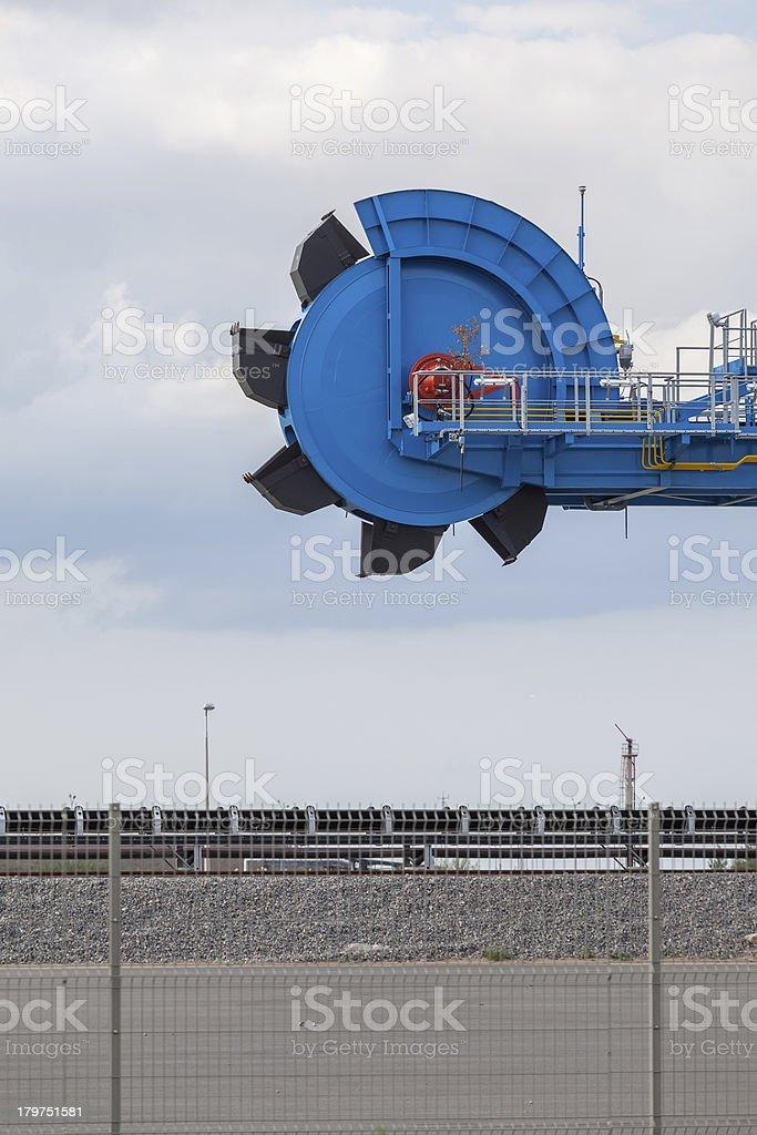 Giant bucket wheel excavator royalty-free stock photo