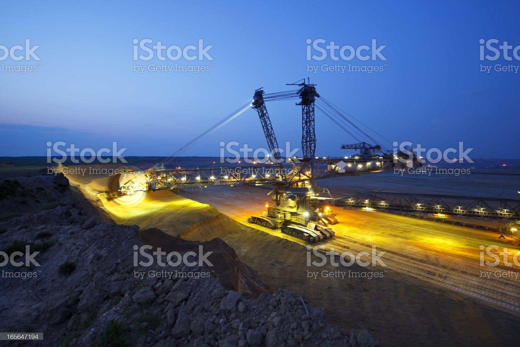 Giant Bucket-Wheel Excavator At Work royalty-free stock photo