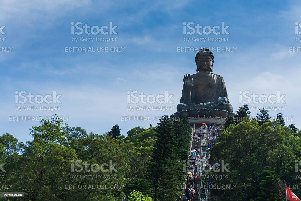 Giant Buddha at Lantau Island, Hong Kong stock photo