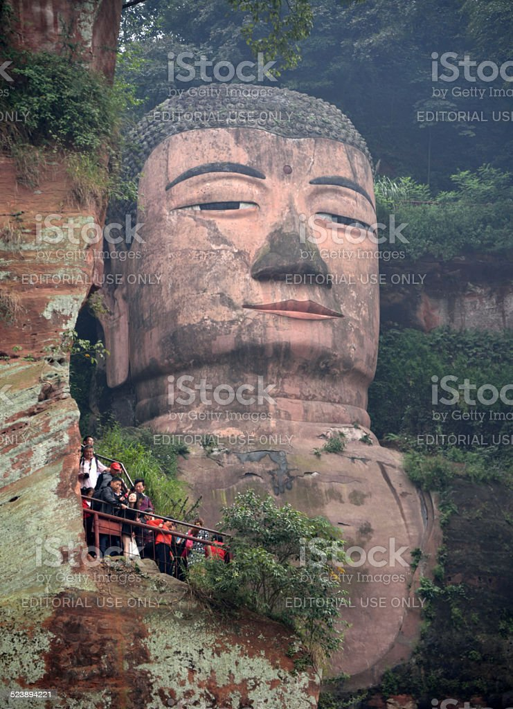 Giant Buddha at Leshan stock photo