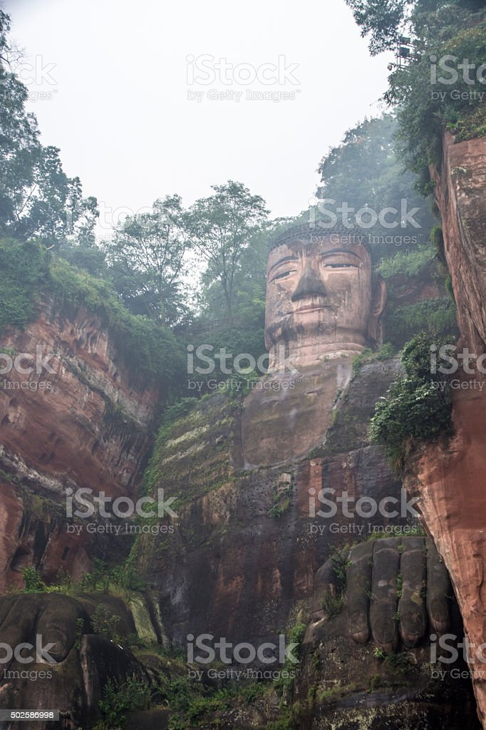 Giant Buddha in Leshan stock photo