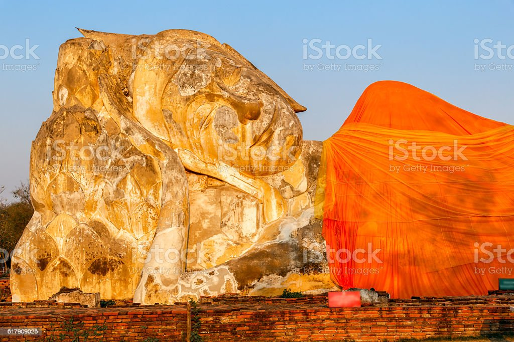 Giant Buddha statue in the historical Park stock photo