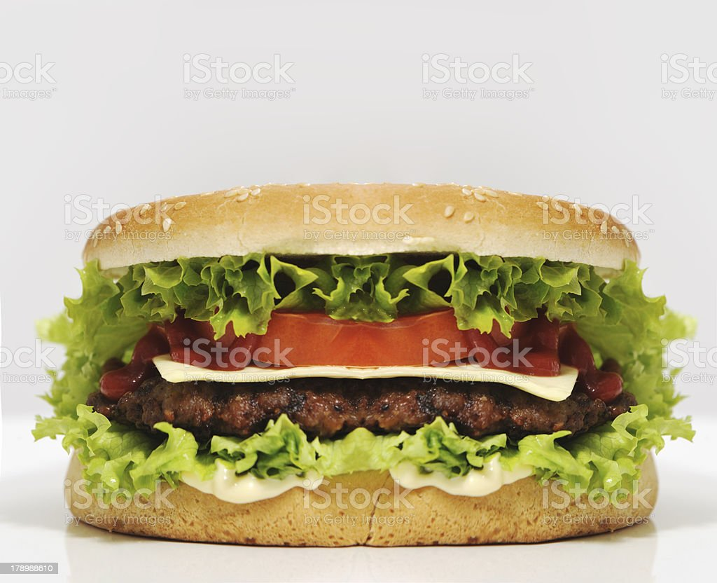 Giant burger royalty-free stock photo