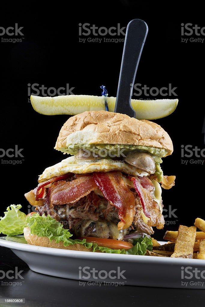 Giant Cheeseburger royalty-free stock photo