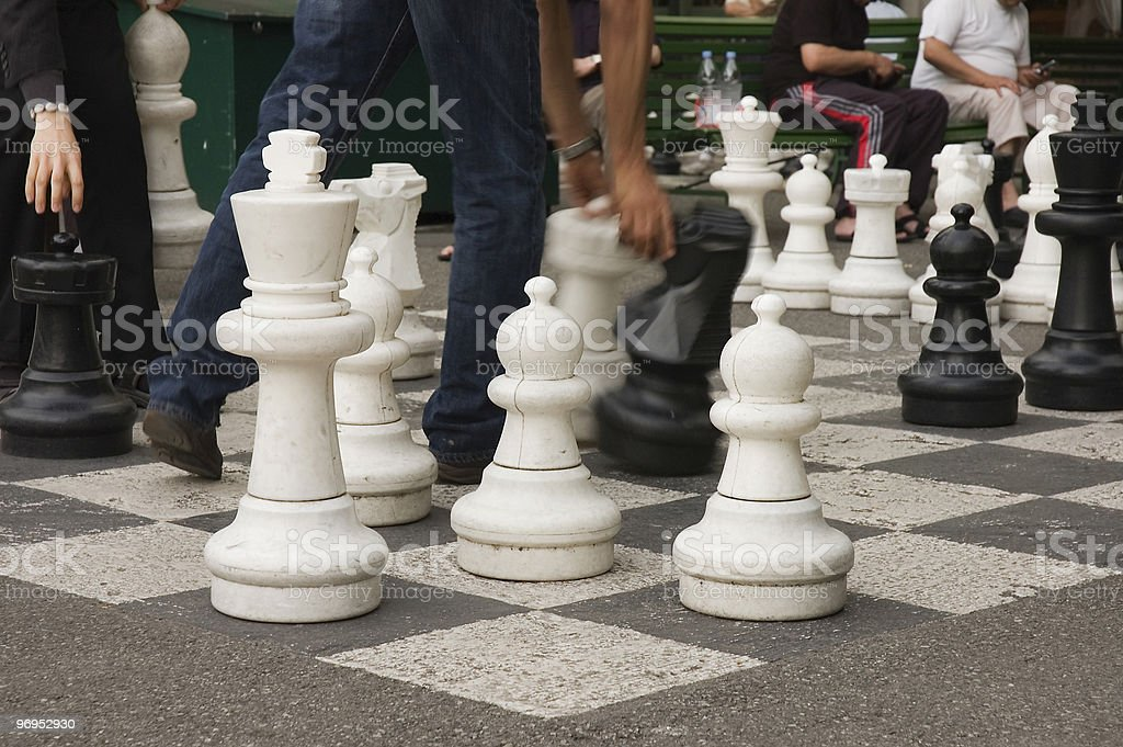 Giant chess set royalty-free stock photo
