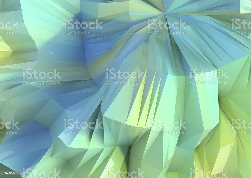 Giant Colored Low Poly Background stock photo