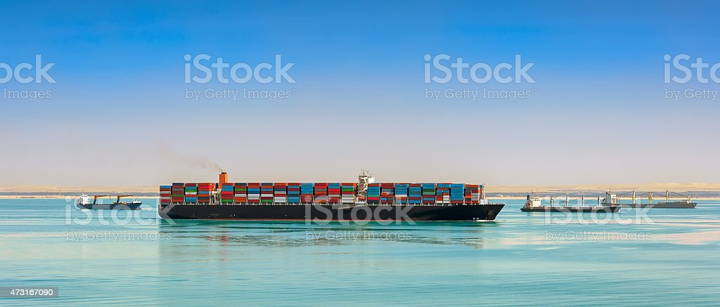 Giant container ship stock photo