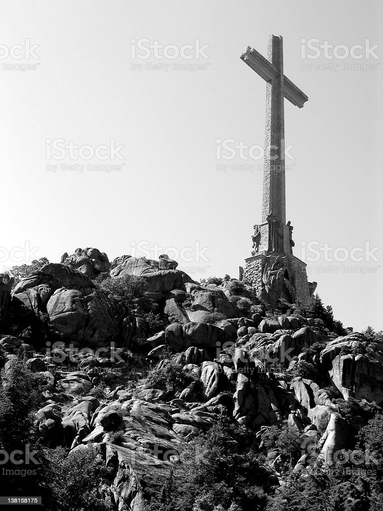 Giant cross at Valle de los caidos - Spain royalty-free stock photo